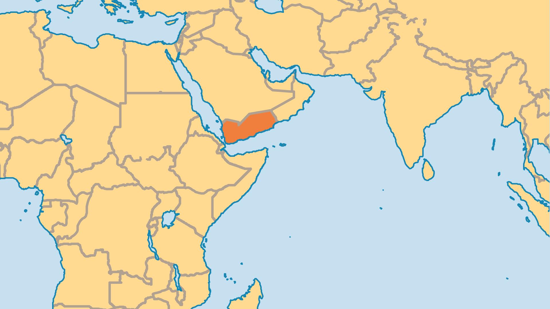Locator Map for Yemen