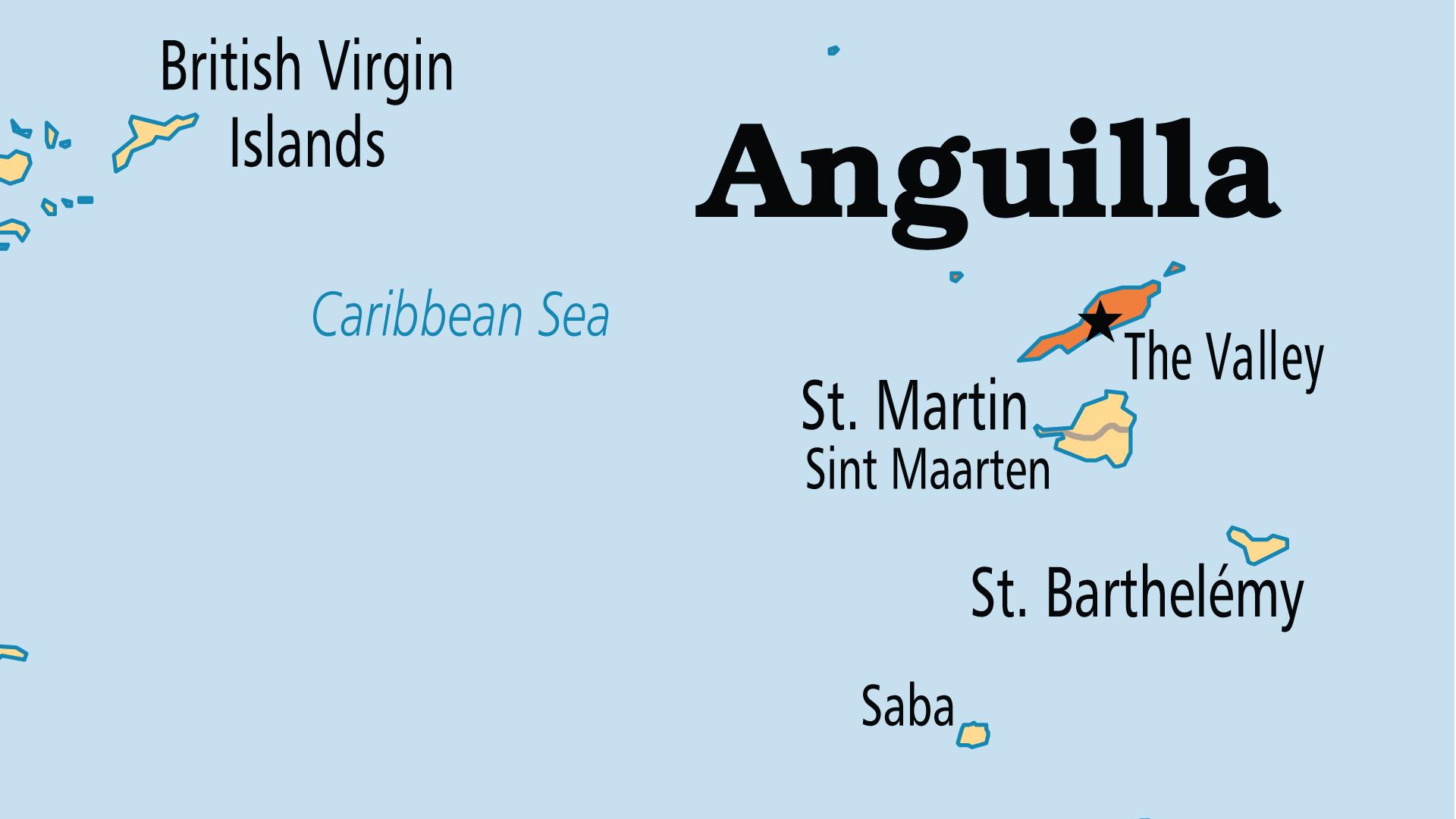 Map of Anguilla