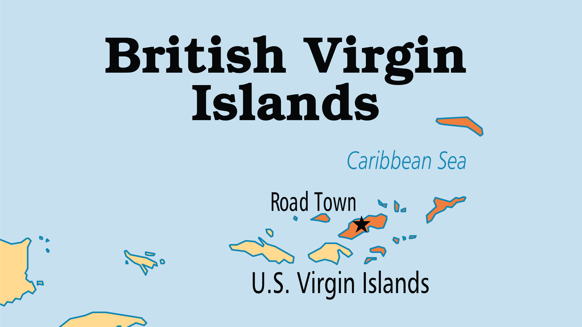 Map of British Virgin Islands