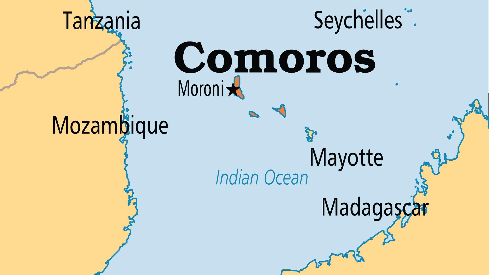 Map of Comoros