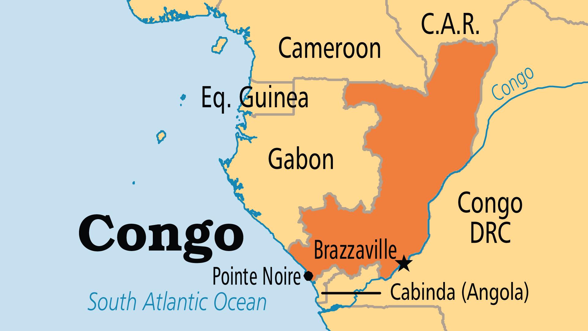 Map of Republic of Congo (ROC)
