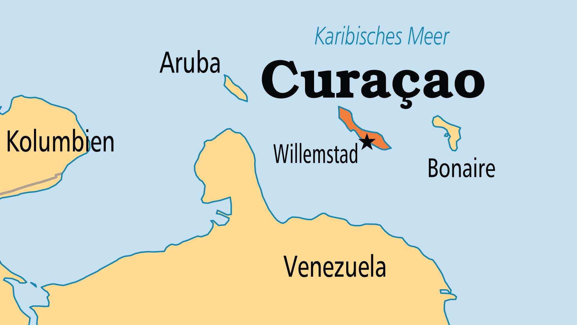 Map of Curaçao