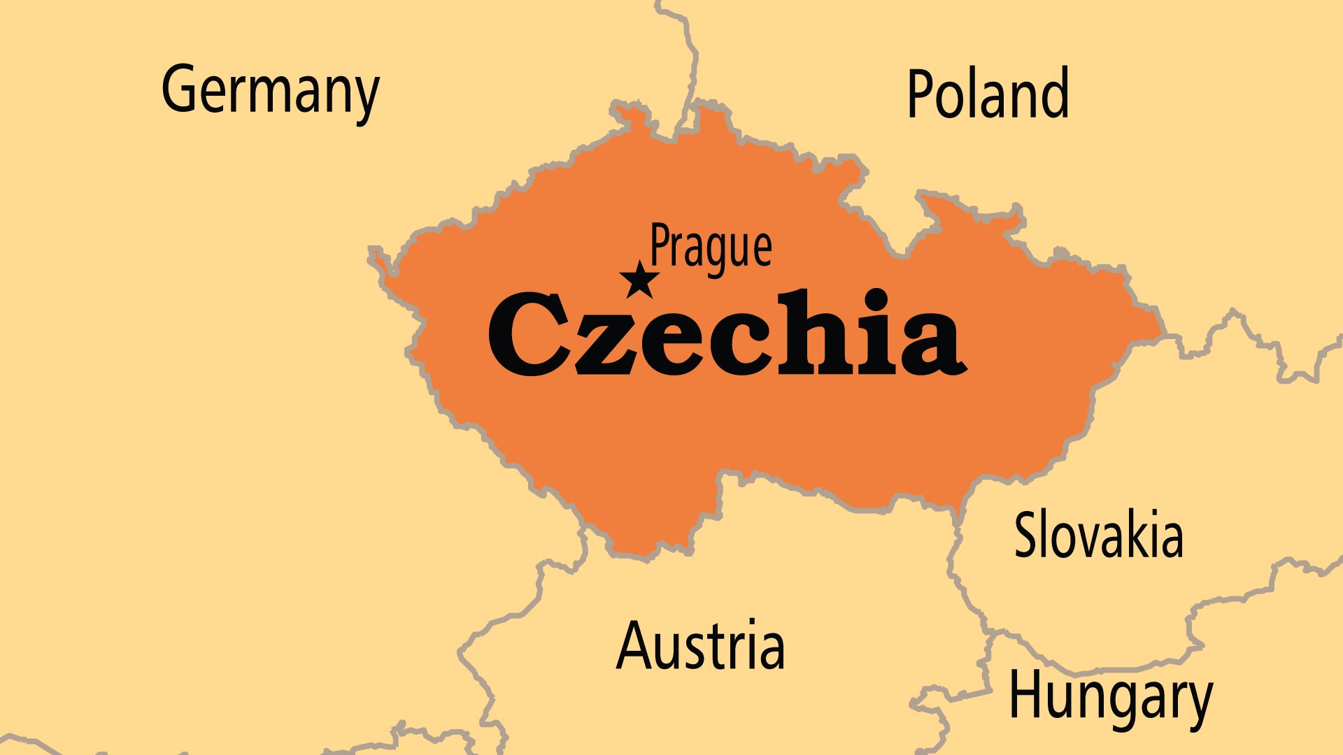 Map of Czechia