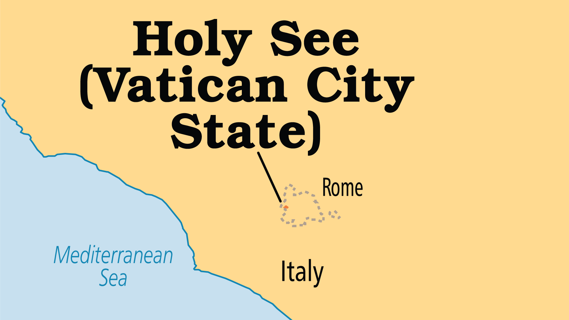 Map of Holy See (Vatican City)
