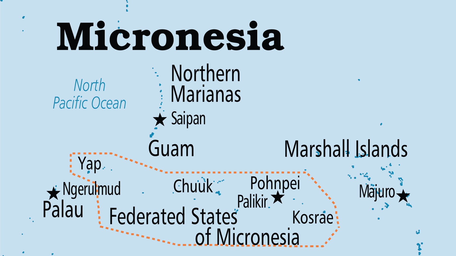 Map of Northern Mariana Islands