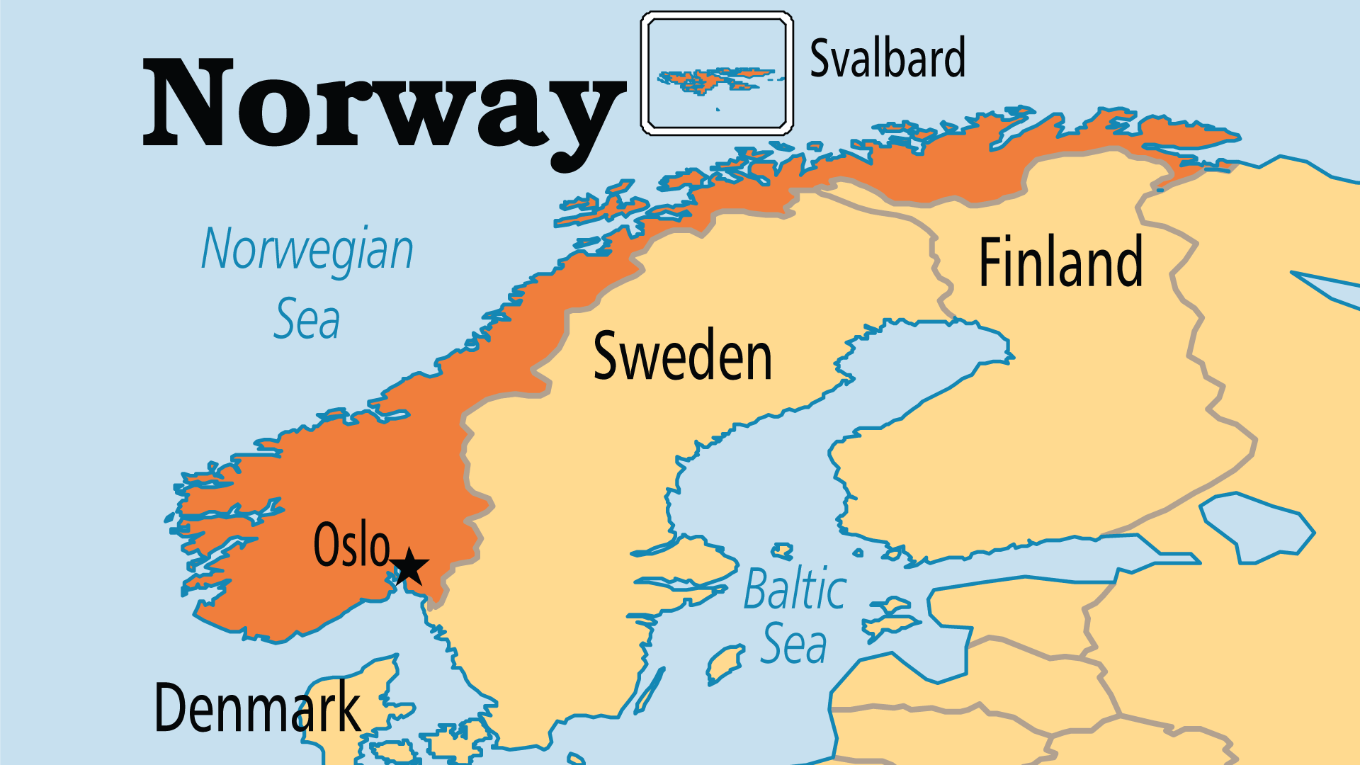 Map of Norway