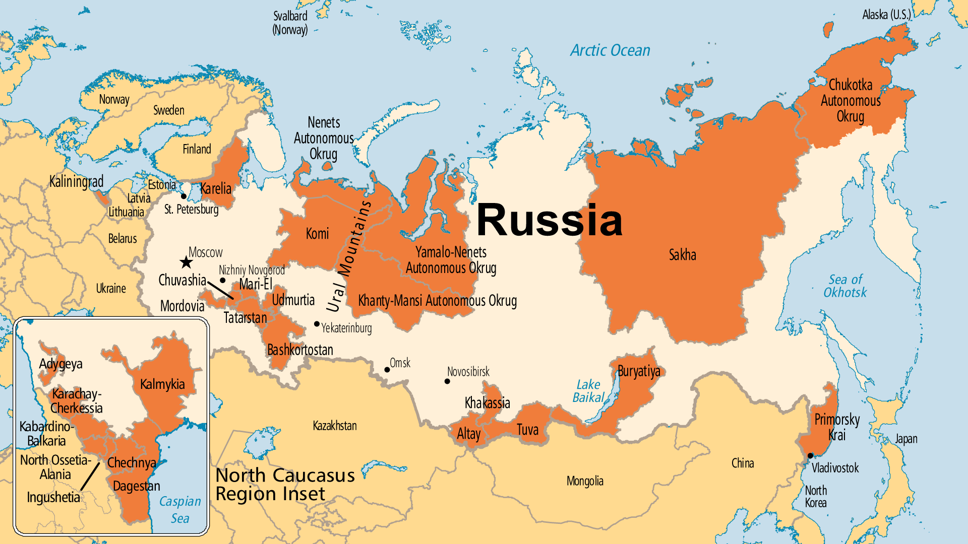 Detailed Map for Russia