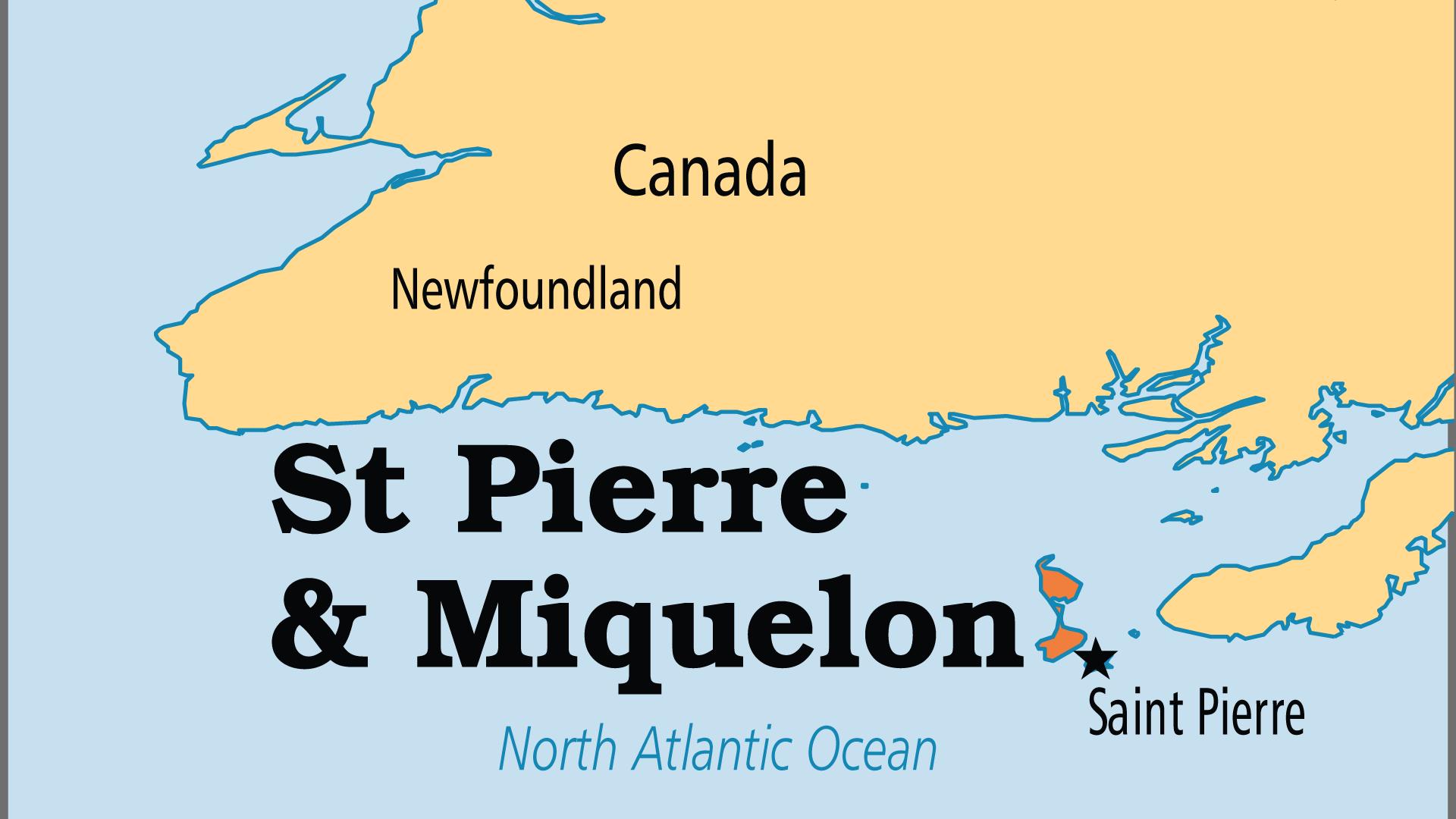 Map of Saint Pierre & Miquelon