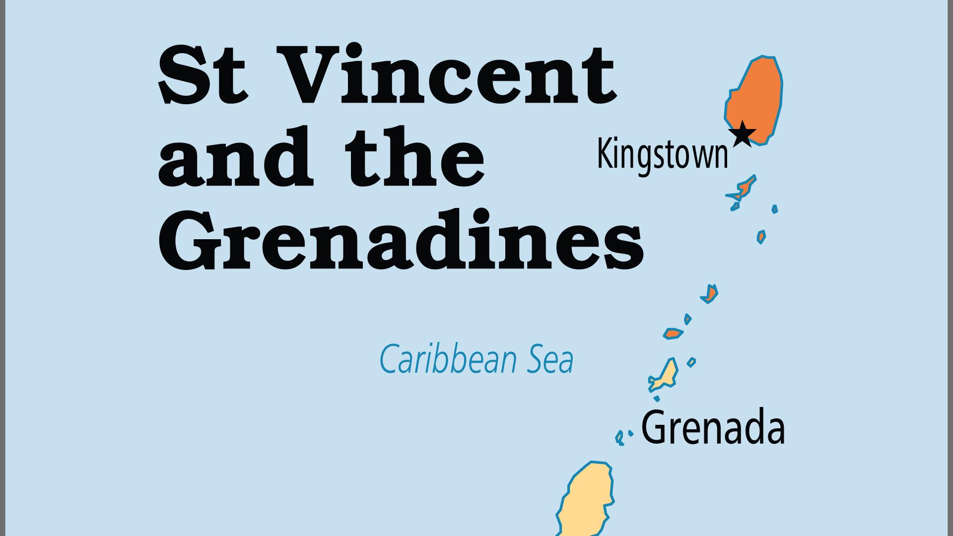 Map of Saint Vincent