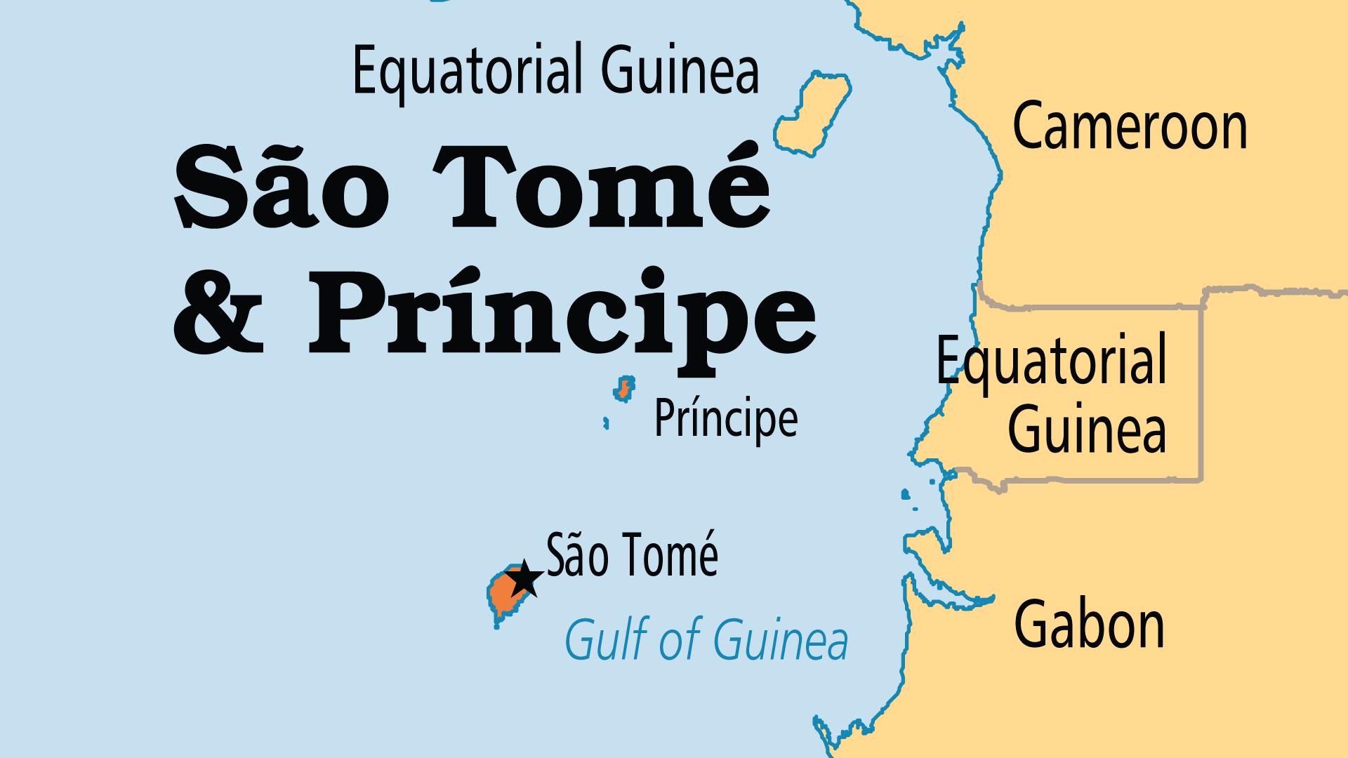 Map of Sao Tomé & Principe