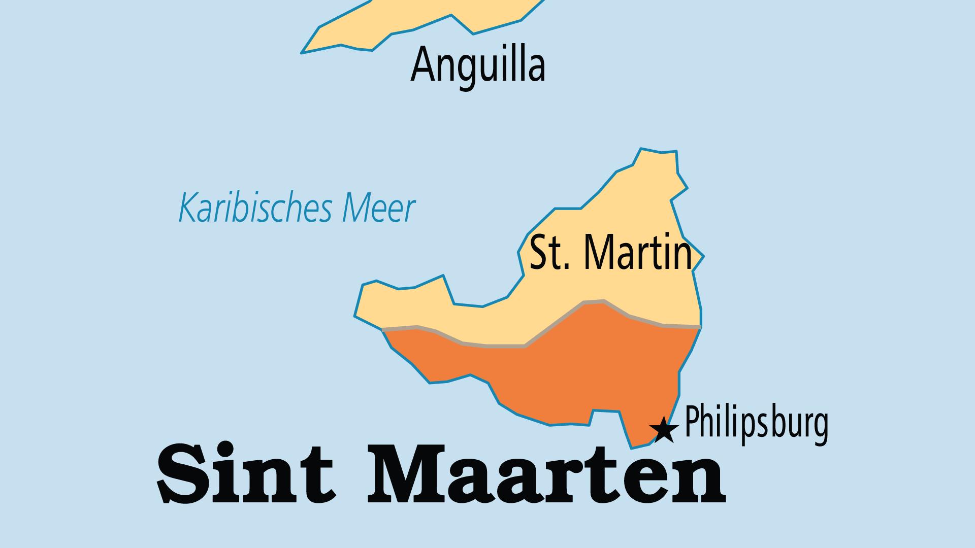 Map of Sint Maarten