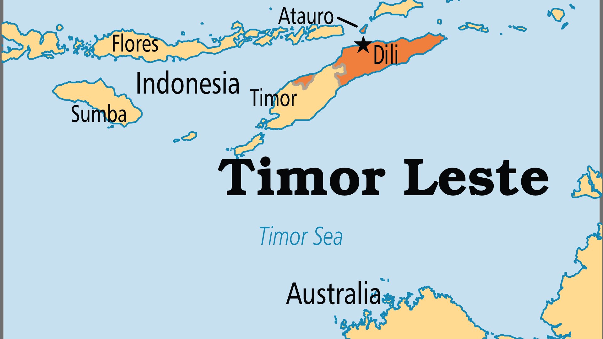 Map of Timor Leste