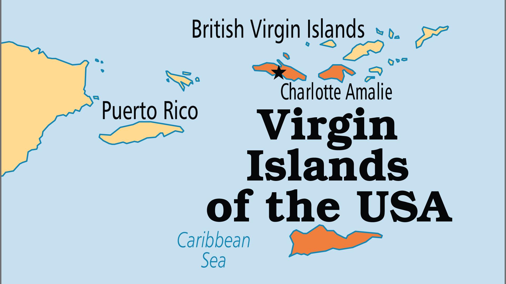Map of US Virgin Islands