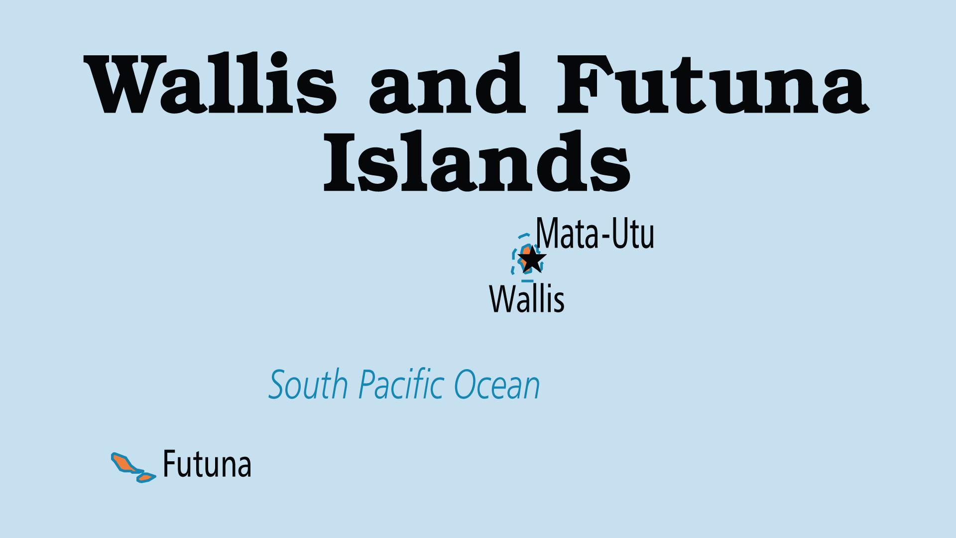 Map of Wallis & Futuna Islands